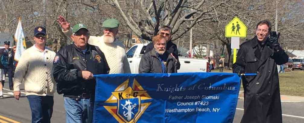knights of columbus in parade