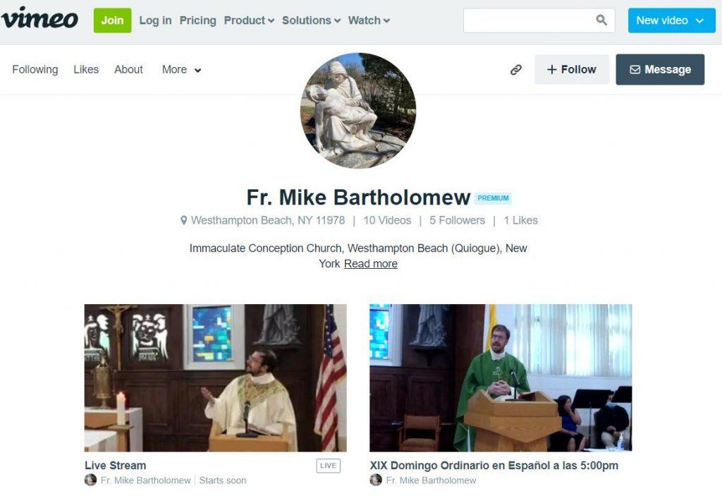 vimeo home screen