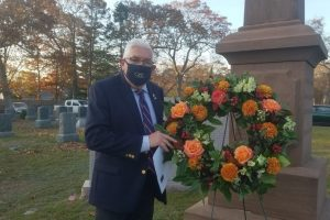 Phil DeBrita with the wreath