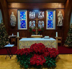 Christmas mass altar