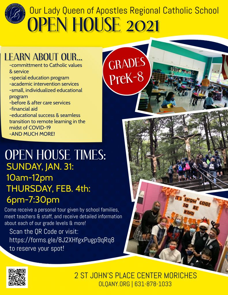 open house flyer - text in post